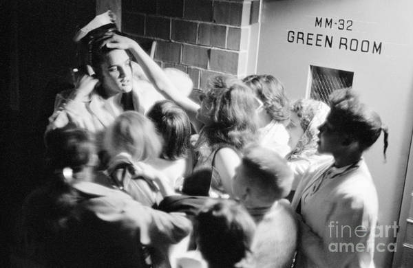 Wall Art - Photograph - Elvis Presley Mobbed By Adoring Fans 1956 by The Harrington Collection