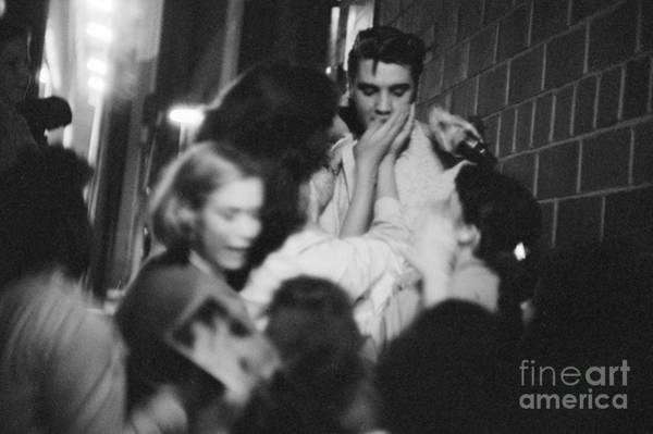 Wall Art - Photograph - Elvis Presley Mobbed By Fans 1956 by The Harrington Collection