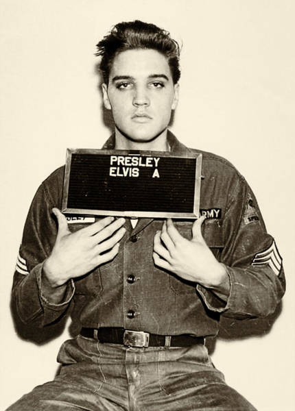 Mugshot Wall Art - Photograph - Elvis Presley - Mugshot by Digital Reproductions