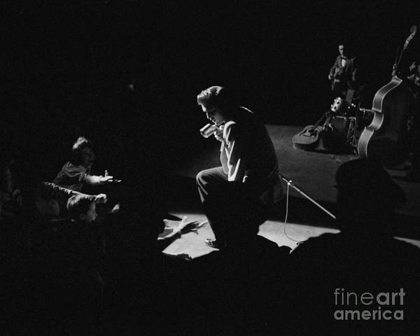 Wall Art - Photograph - Elvis Presley On Stage At The Fox Theater In Detroit 1956 by The Harrington Collection