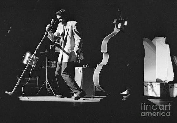 Wall Art - Photograph - Elvis Presley Performing At The Fox Theater 1956 by The Harrington Collection