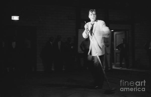 Wall Art - Photograph - Elvis Presley Performing In Dayton In 1956 by The Harrington Collection