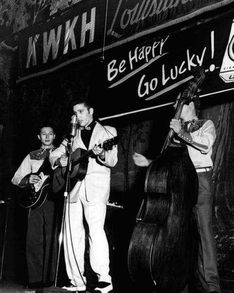 Soul Photograph - Elvis Presley Playing Radio Event by Retro Images Archive