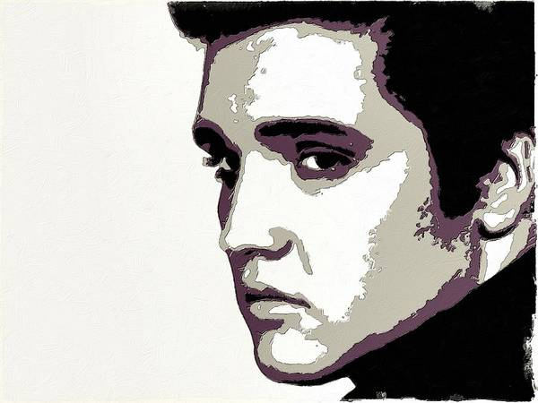 Painting - Elvis Presley Portrait Art by Florian Rodarte