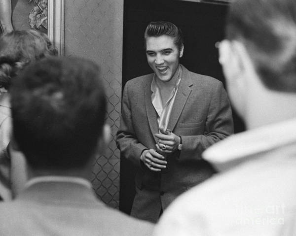 Wall Art - Photograph - Elvis Presley Speaking With Fans 1956 by The Harrington Collection