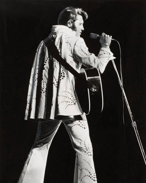 Controversy Photograph - Elvis Presley At Mic by Retro Images Archive