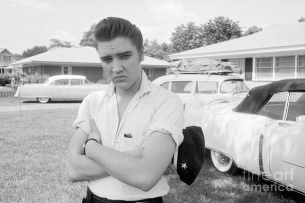 Wall Art - Photograph - Elvis Presley With His Cadillacs 1956 by The Harrington Collection