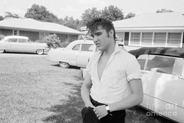 Automobile Photograph - Elvis Presley With His Cadillacs by The Harrington Collection
