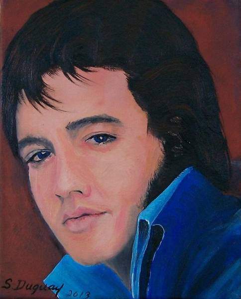 Painting - Elvis  by Sharon Duguay
