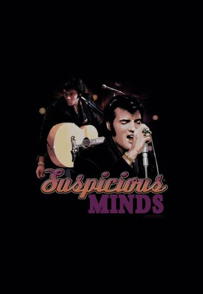 Elvis Digital Art - Elvis - Suspicious Minds by Brand A