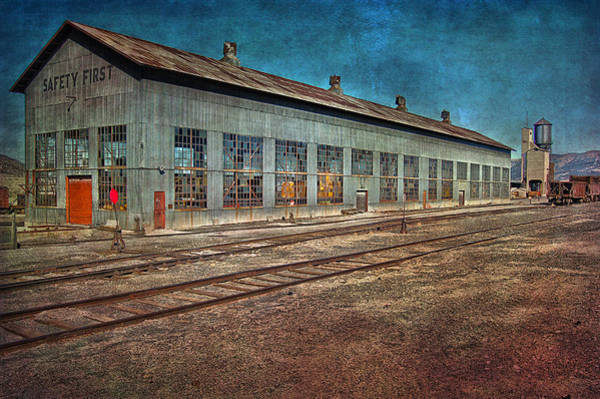 Photograph - Ely Nevada Trainstation by Gunter Nezhoda