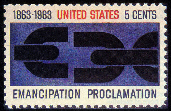 Stamp Collecting Photograph - Emancipation Proclamation, Us Postage by Science Source