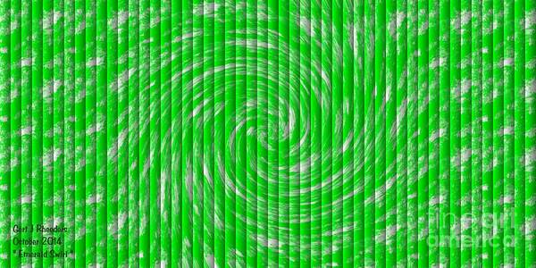Special Offer Painting - Emerald Swirl. H A by Gert J Rheeders