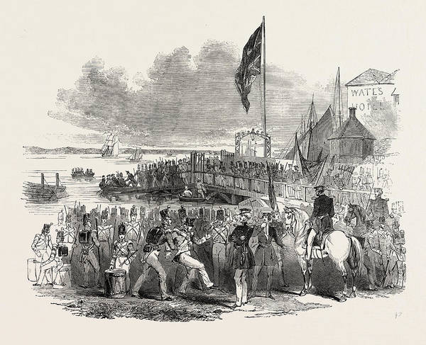 Prepare Drawing - Embarkation Of Troops At Gravesend by English School
