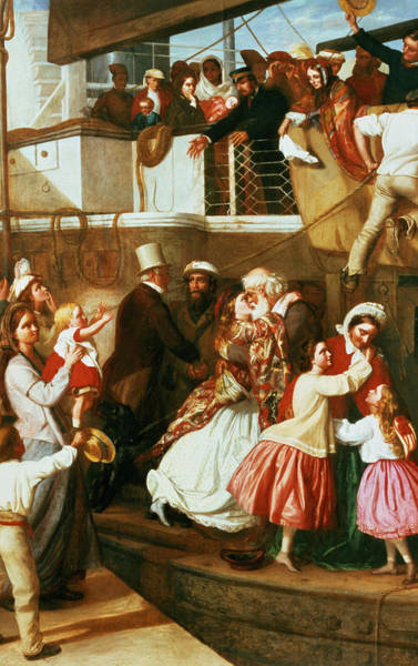 Safe Painting - Embarkation Scene by George Tuson