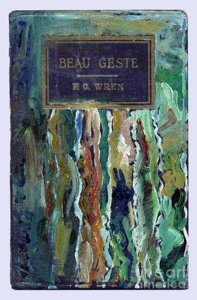 Utilitarian Painting - Embellished Book Cover Beau Geste  by Cathy Peterson
