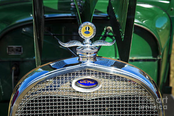 Photograph - Emblem For 1929 Ford Classic Antique Automobile Car In Color  30 by M K Miller