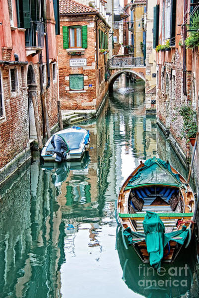 Gondola Photograph - Emerald Canal by Delphimages Photo Creations