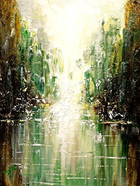 Emerald City Wall Art - Painting - Emerald City Falls by Patricia Lintner