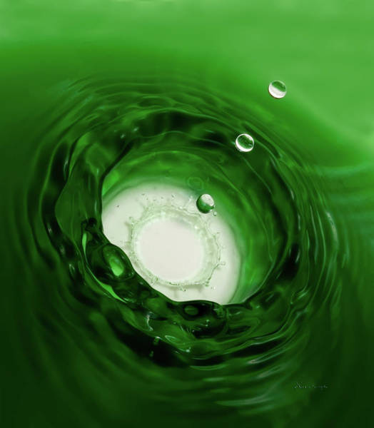 Photograph - Emerald Drops by Vickie Szumigala
