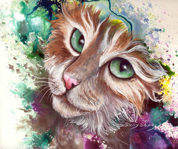 Painting - Emerald Eyes by Sherry Shipley