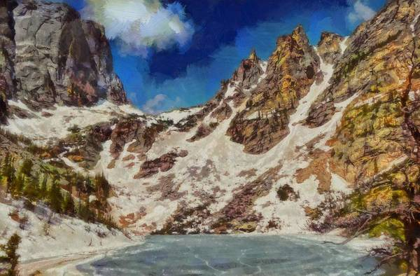 Painting - Emerald Lake Rocky Mountain National Park by Dan Sproul