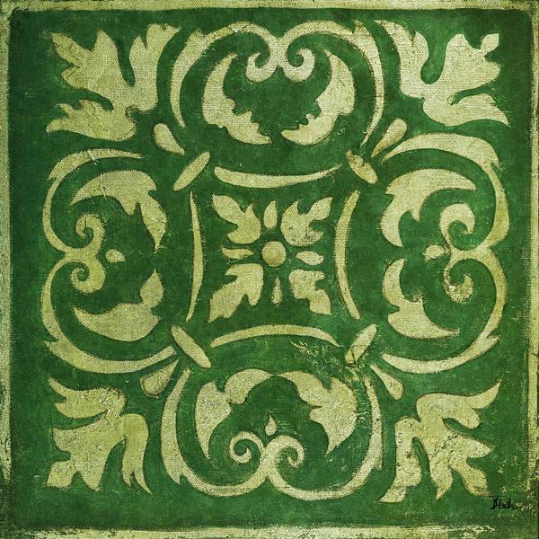 Wall Art - Mixed Media - Emerald Mosaic by Patricia Pinto