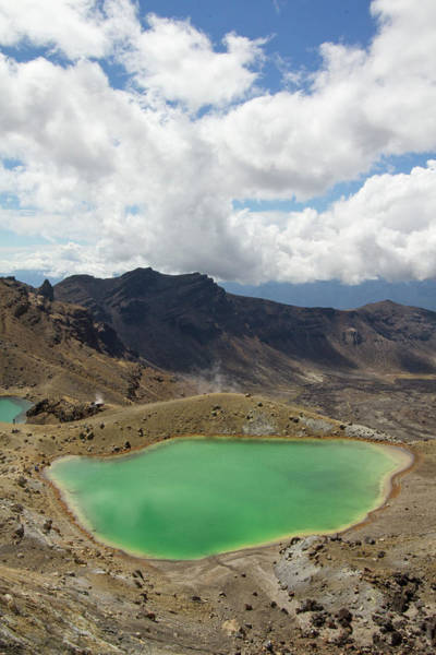 Geology Photograph - Emerald Pools In Tongariro National Park by David Epperson