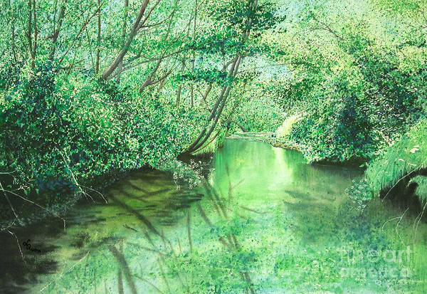 Painting - Emerald Stream by Lynn Quinn