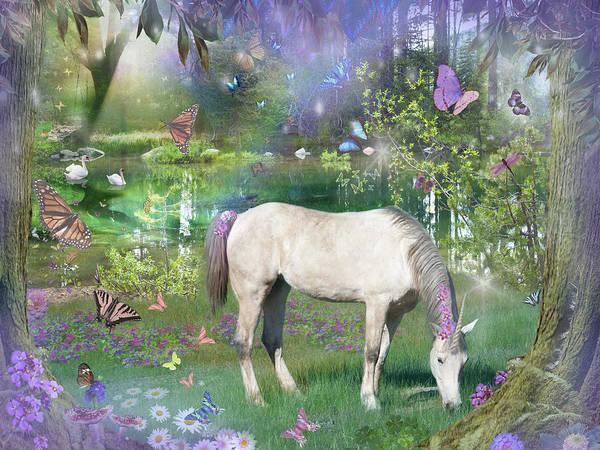 Mythological Photograph - Emerald Unicorn Variant 1 by MGL Meiklejohn Graphics Licensing