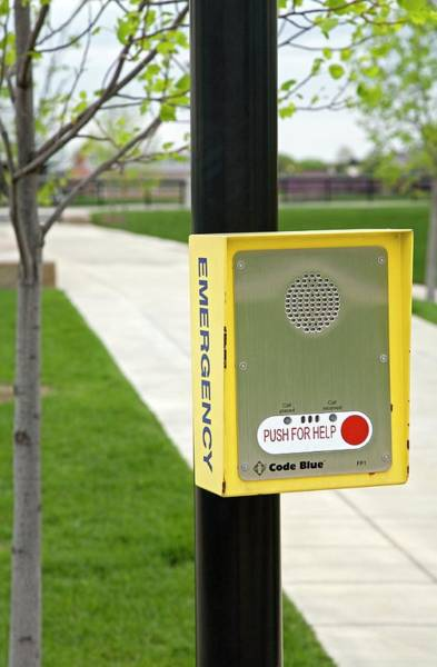 Public Speaker Photograph - Emergency Call Box by Jim West
