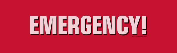 Wall Art - Digital Art - Emergency - Logo by Brand A