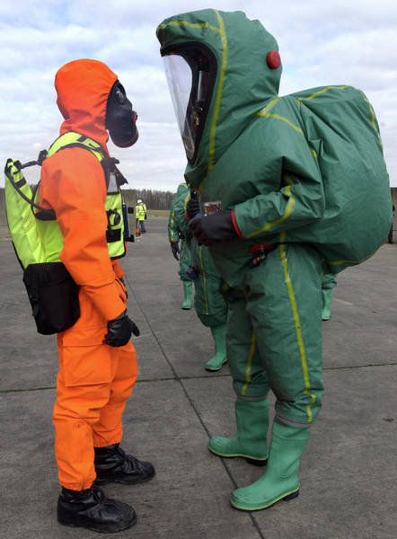 Nbc Photograph - Emergency Response Protection Suits by Public Health England