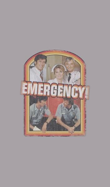 Television Digital Art - Emergency - Retro Cast by Brand A