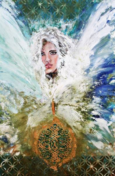 Angelic Beings Painting - Emerging Angel Of Light by Alma Yamazaki