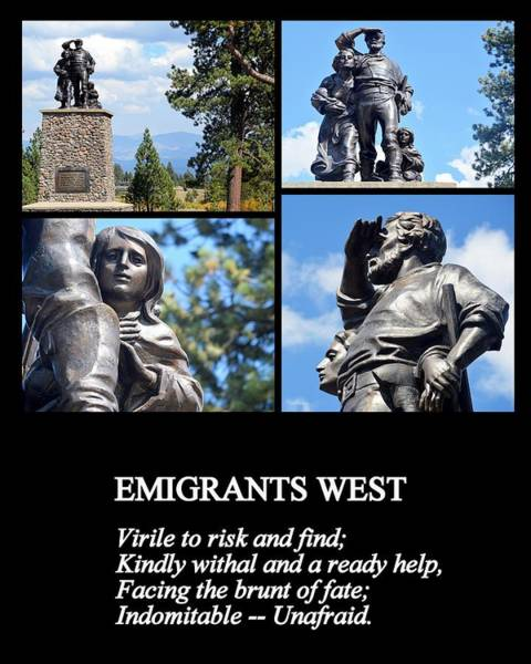 Photograph - Emigrants West by AJ  Schibig