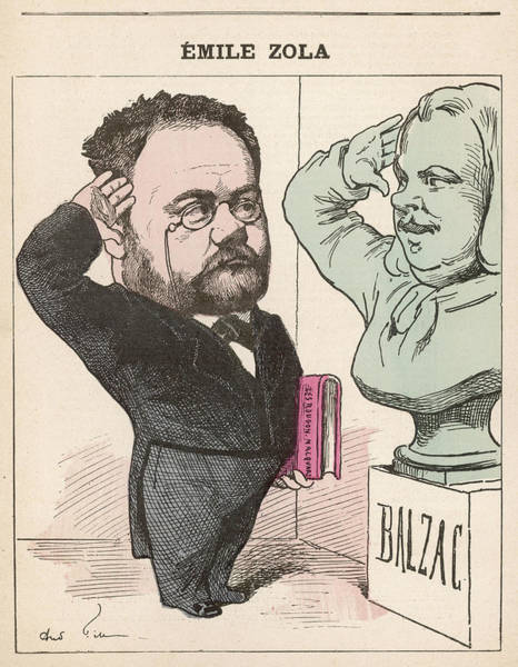 Gill Drawing - Emile Zola  French Novelist Paying by Mary Evans Picture Library