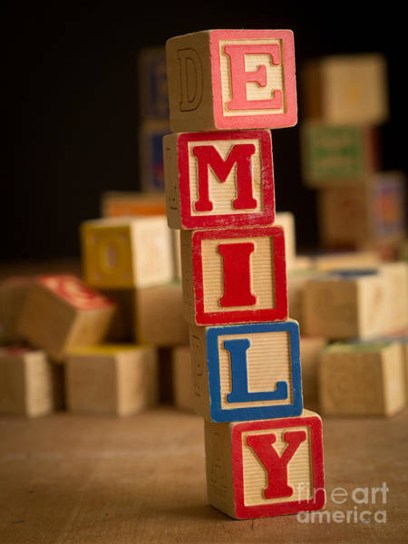 Baby Name Wall Art - Photograph - Emily - Alphabet Blocks by Edward Fielding