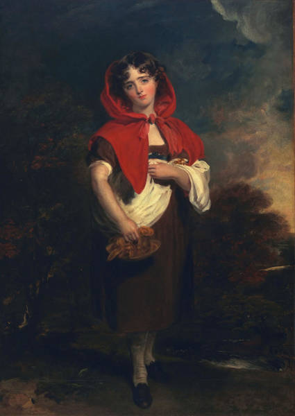 Child Actress Painting - Emily Anderson Little Red Riding Hood by Thomas Lawrence