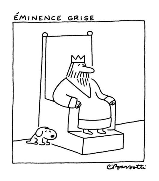 Side Drawing - Eminence Grise by Charles Barsotti