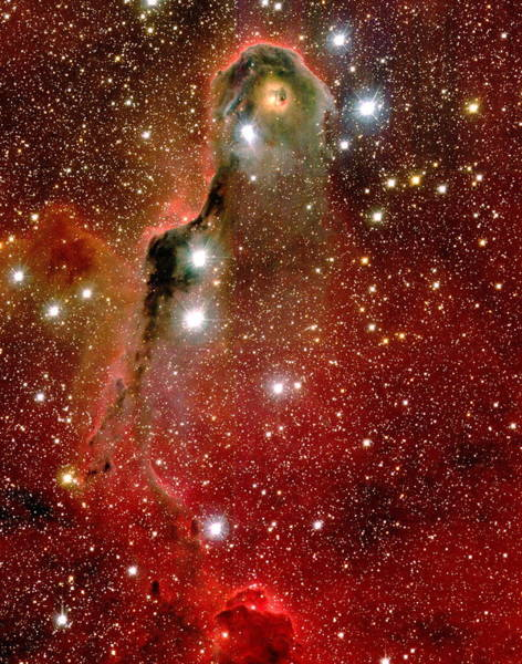 Canada-france-hawaii Telescope Wall Art - Photograph - Emission Nebula Ic 1396 by J-c Cuillandre/canada-france-hawaii Telescope/science Photo Library