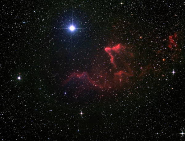 Emission Nebulae Ic 59 And Ic 63 Art Print