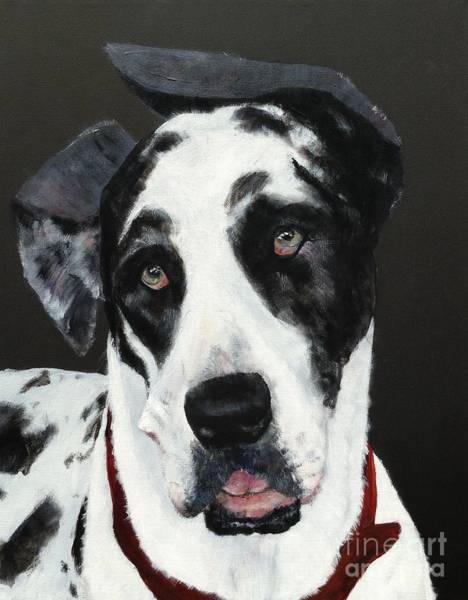 Black Great Dane Painting - Emma by Mary Lynne Powers
