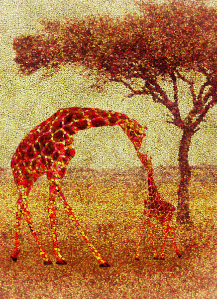 Zoological Wall Art - Painting - Emma's Giraffe by Jack Zulli