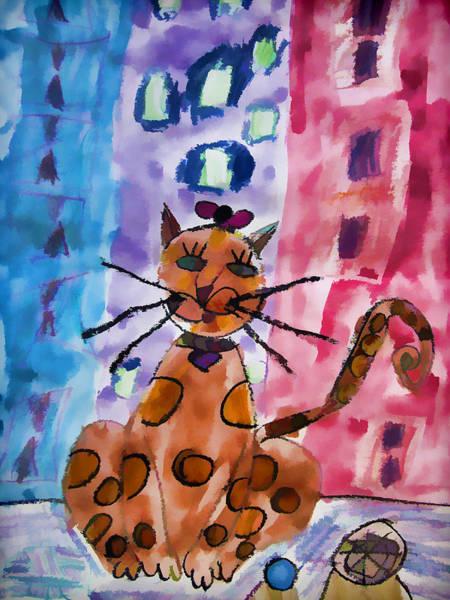 Emma's Spotted Kitty Art Print