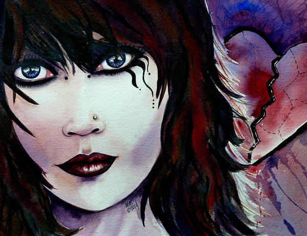 Painting - Emo Girl by Michal Madison