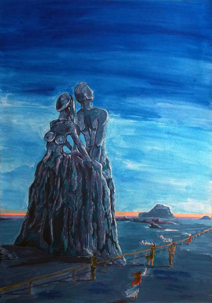 Wall Art - Painting - Emotional Fossils by Lazaro Hurtado