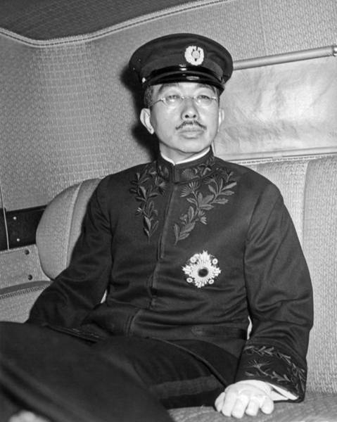 Emperor Photograph - Emperor Hirohito In Limo by Underwood Archives