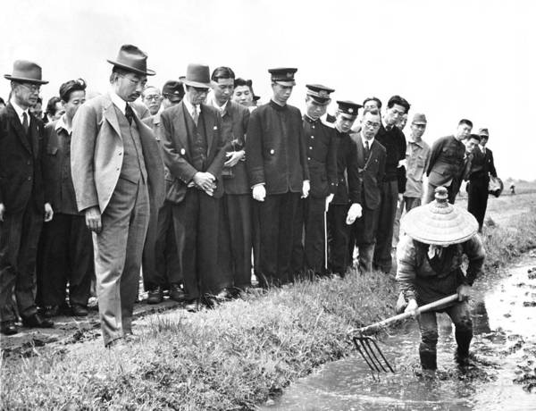 Emperor Photograph - Emperor Hirohito Visits Farm by Underwood Archives