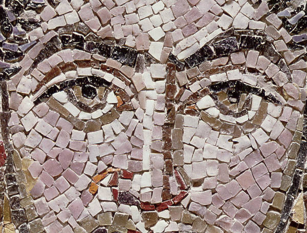 Halo Photograph - Emperor Justinian I 483-565 C.547 Ad Mosaic Detail Of 140283 by Byzantine School